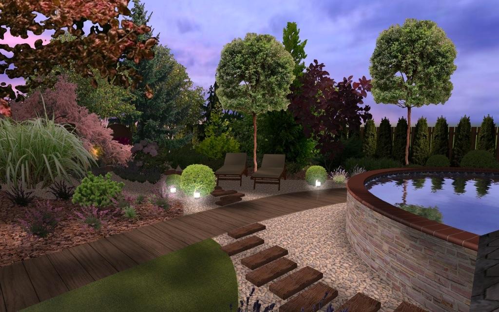 Projekt strefy wypoczynkowej w ogrodzie
